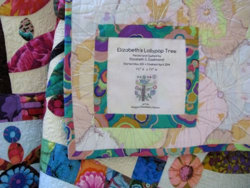 Lollypop Trees Quilt_label