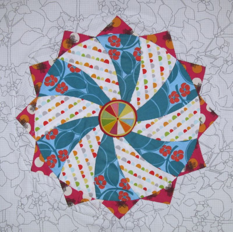 Circles block 1 english paper piecing occasionalpiece quilt circles epp button circles block epp 1 maxwellsz