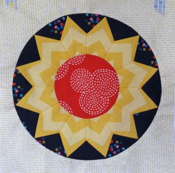Circles Block #2, English Paper Piecing