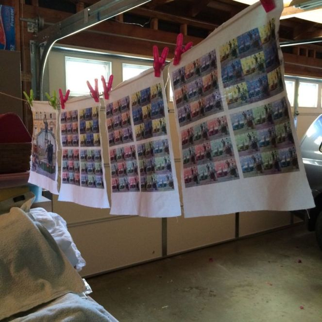 Sheet to Dry in Garage