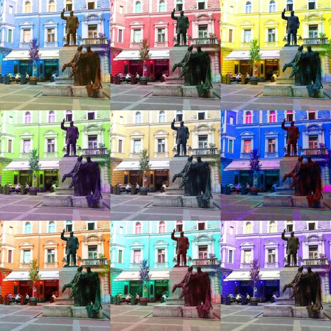 small plaza+multicolor