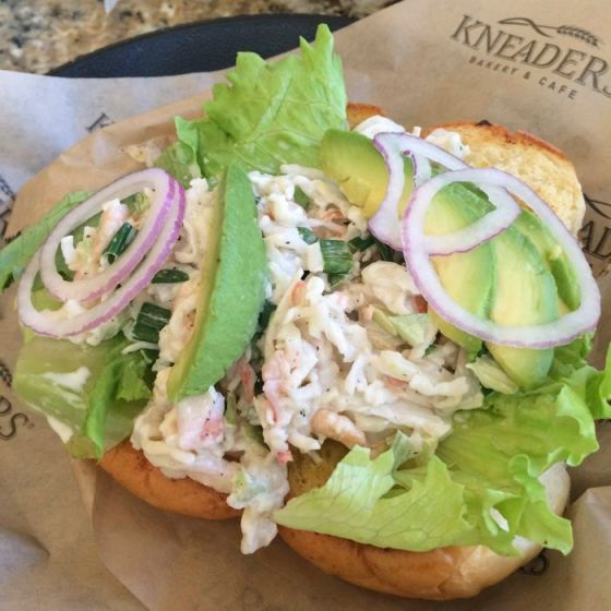 Kneaders Crab Sandwich