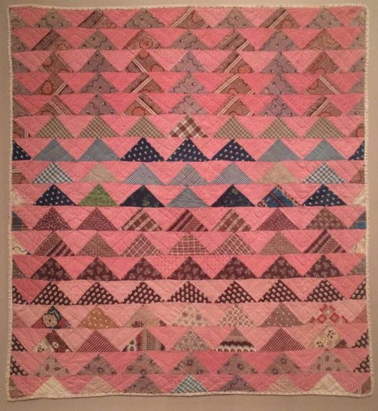 flying geese crib quilt
