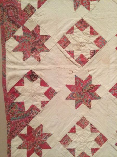 lemoyne star crib quilt detail