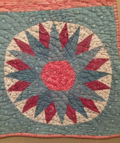 mariner's compass crib quilt detail