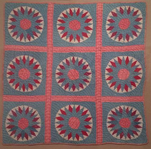 mariner's compass crib quilt