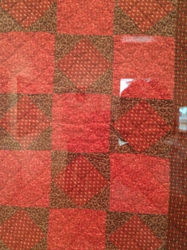 square in a square crib quilt detail