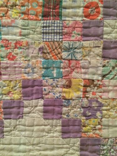 triple irish chain crib quilt detail