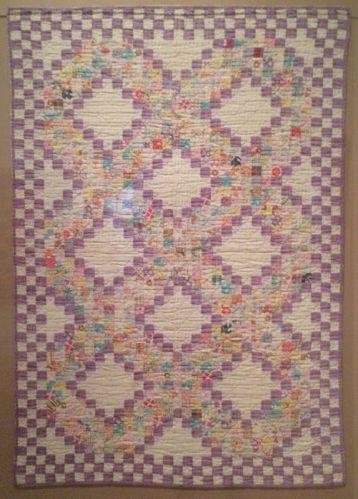 triple irish chain crib quilt