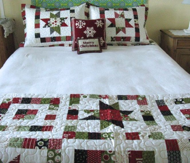 Christmas Quilts on Bed2