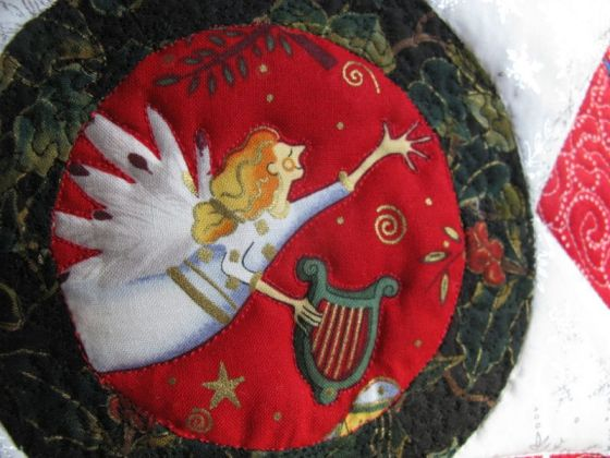 Christmas Star Pillow_detail front