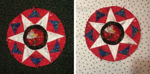 Circles Block Christmas Backgrounds