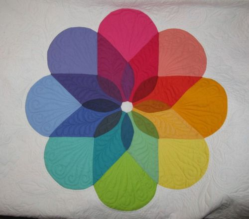 Colorwheel Blossom Quilt_in progress1