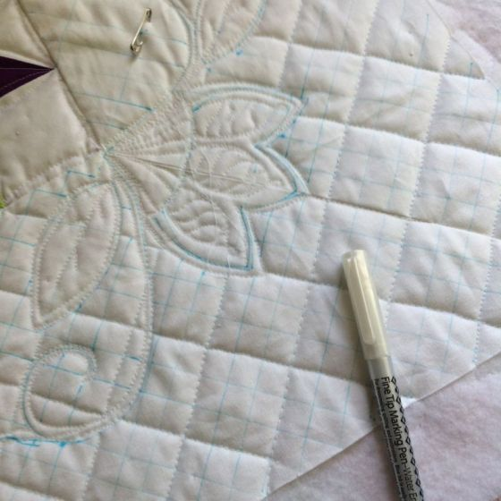 marking quilt again