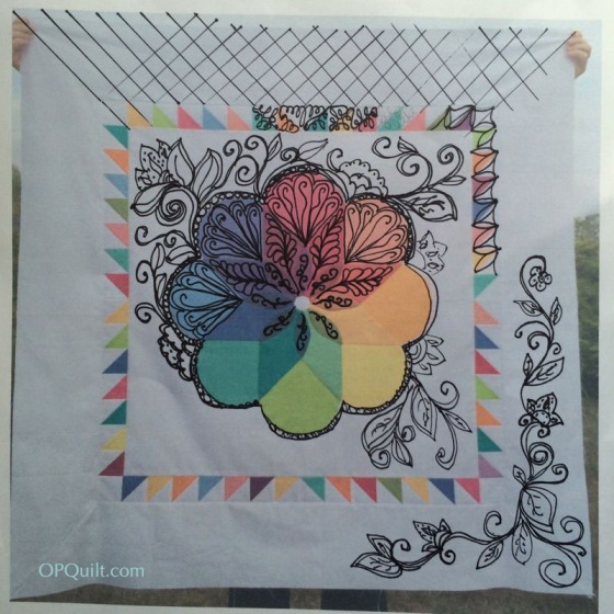 Colorwheel Blossom_quilting