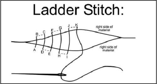 ladder-stitch