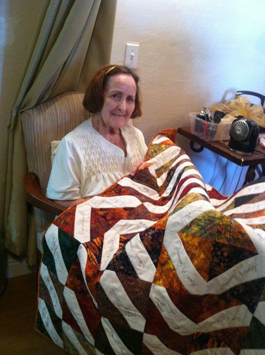 Lora receiving quilt
