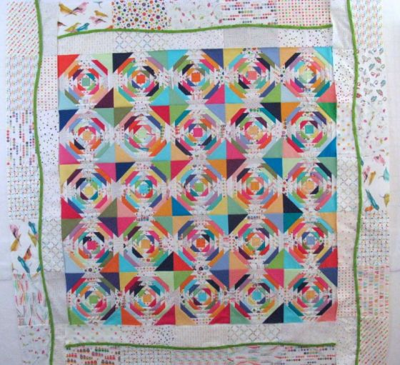 Bias Vine on Wavy Quilt Border