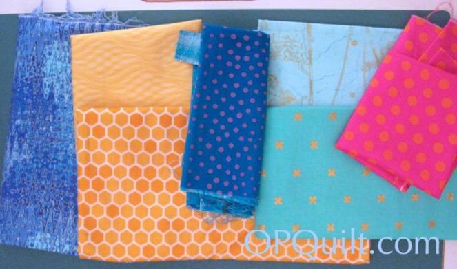 Circle Block 8_layout of fabric
