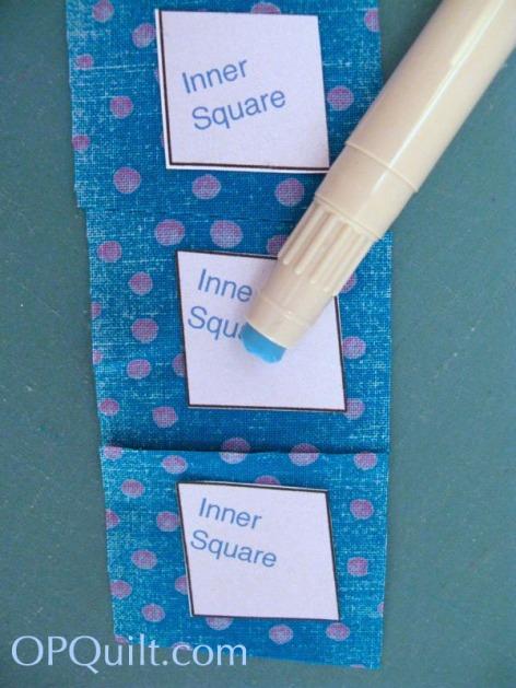 Circle Block 8_using a glue stick