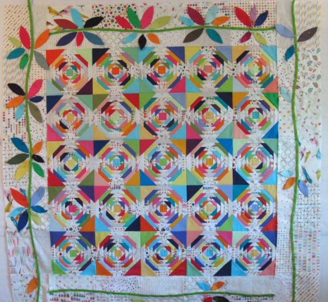 Laying out Leaves in Quilt Border