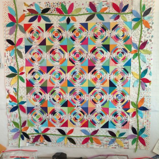 Pineapple Quilt Before
