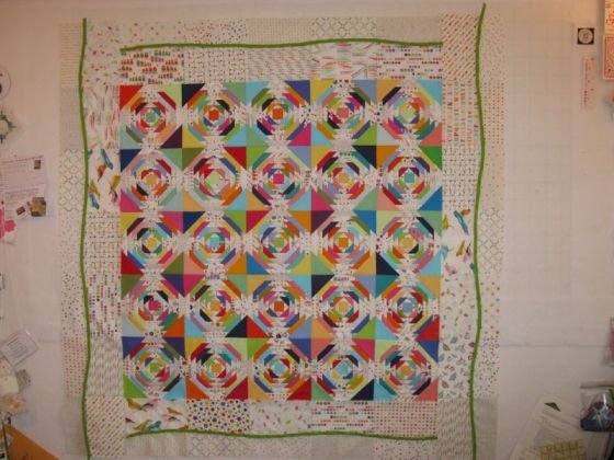 Pineapple quilt Borders Flipped