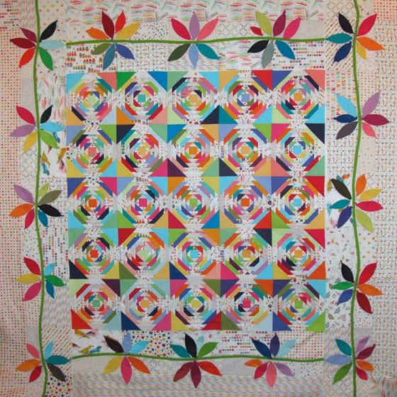 PIneapple Quilt in Process Jan12