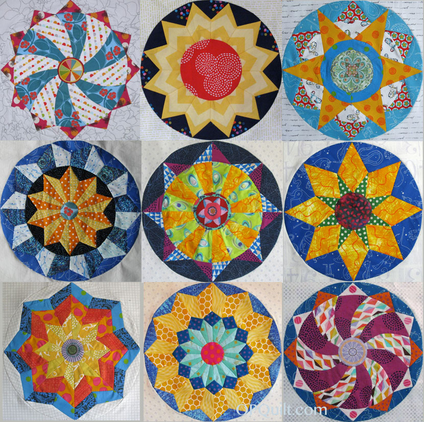 Shine The Circles Quilt Epp Occasionalpiece Quilt