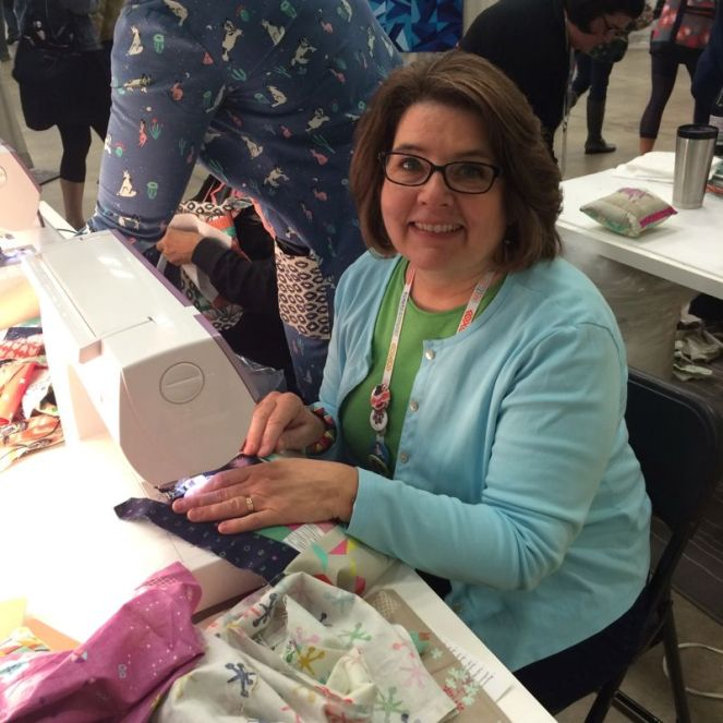 Sewing at CS Booth