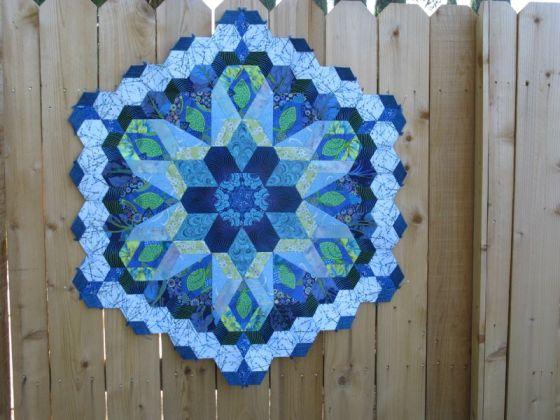 Rosette 1 on fence