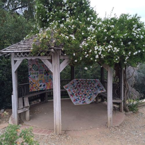 Gazebo with two quilts