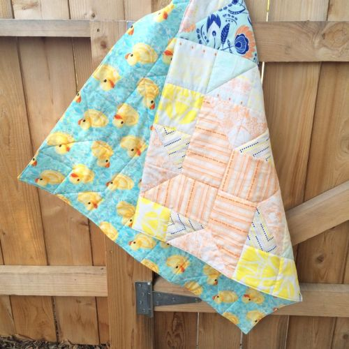Star Neonatal Quilt back