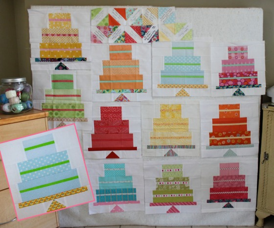 Carla Is Still Working On This Years Batch Of Blocks A Birthday Cake Block Using Tutorial Bee Also Does Signature Which I Love