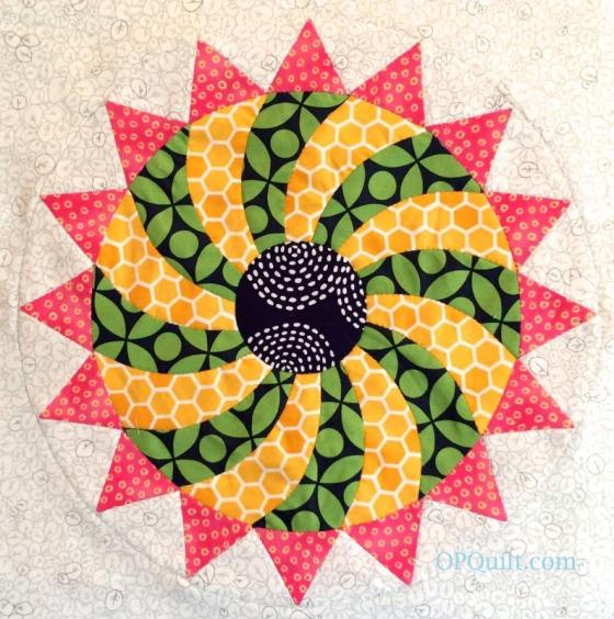 Circles Block 13 EPP_OPQuilt.com
