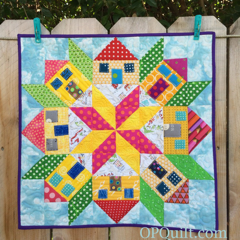 Mini house quilt finished occasionalpiece quilt for House pattern