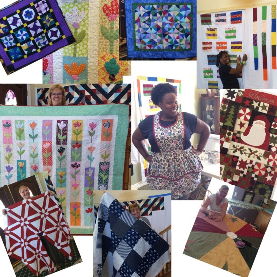 Quilters working on Quilts