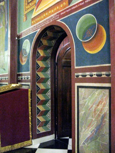Zagreb doorway design church