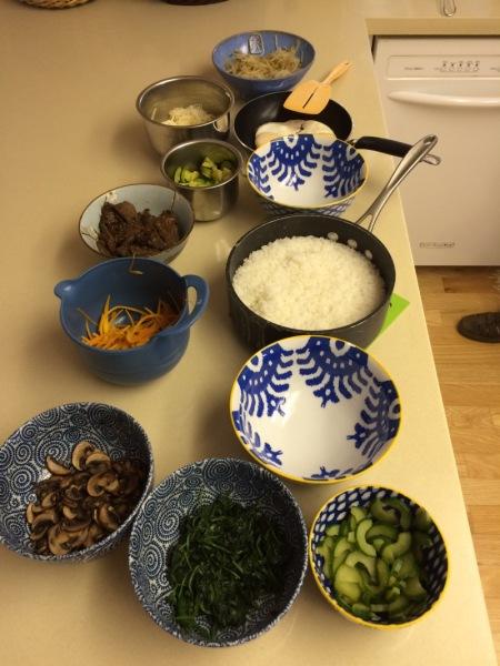 Bibimbap bowls