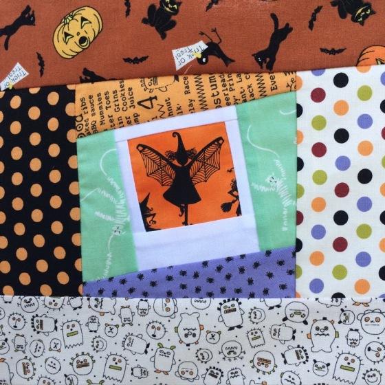 Detail Halloween Quilt 2015-2