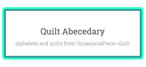 Quilt Abecedary title