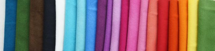rainbow of felted wools