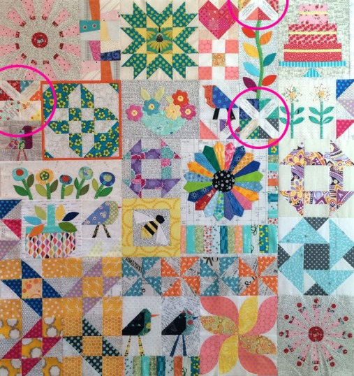 Sampler Quilt 2015with Sigs