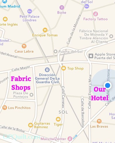 Fabric Shops Madrid 2016