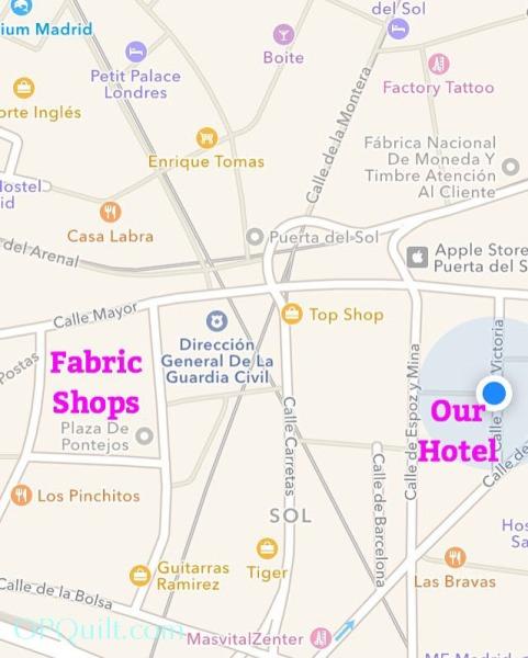 Fabric Shops Madrid 2016