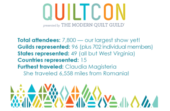 Quiltcon Stats
