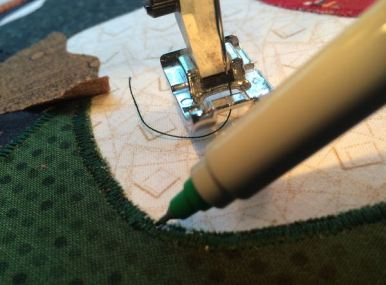 touching up stitching