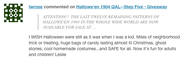 Leslie comment Halloween