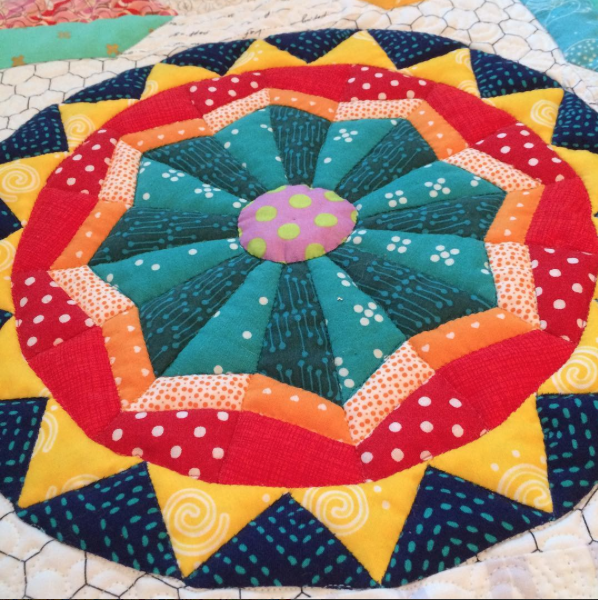 Shine Circle quilted