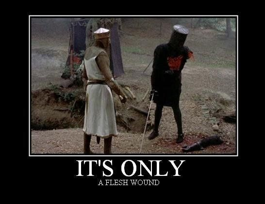only a flesh wound